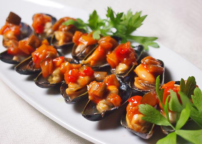 ムール貝の冷製トマトソース